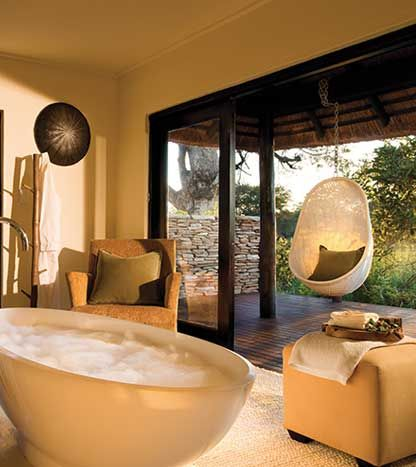 A bath to get lost in! #LionSands #RiverLodge #LuxuryLodge #LuxuryTravel #MOREplaces