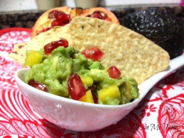 No sin mi taper: Guacamole con mango y granada