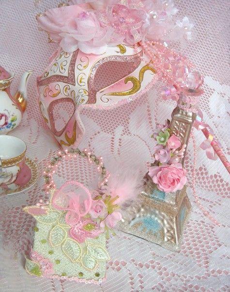 Marie Antoinette Pink  Shabby Masquerade  Paris  by LaDeeDah2, $75.00