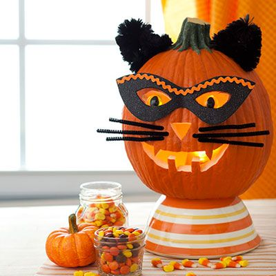 Halloween Crafts: Tiger Pumpkin