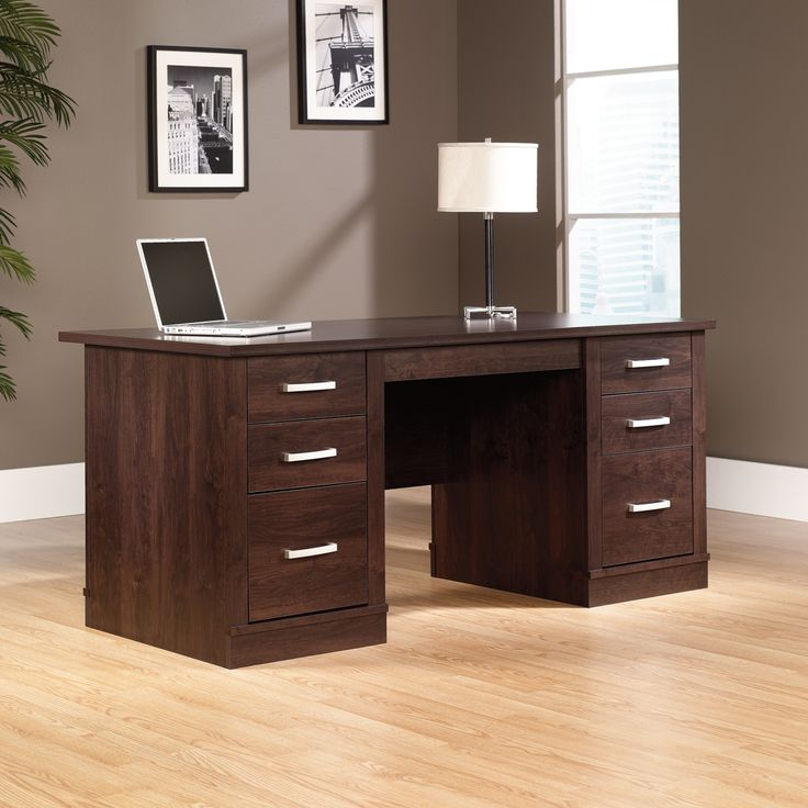 Sauder Office Port Executive Desk - Real Wood Home Office Furniture Check more at http://michael-malarkey.com/sauder-office-port-executive-desk/
