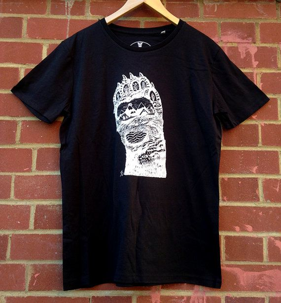 Bear Paw   Screen Printed Organic T-shirt   100% cotton   Black   (ONLINE PRICE)