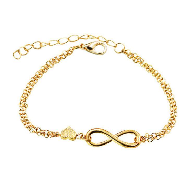 Modeschmuck armband gold  Die besten 25+ Infinity kette Ideen auf Pinterest | Unendlichkeit ...