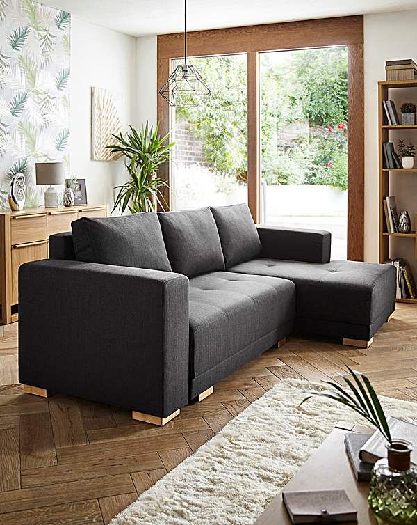 Leia Righthand Cornergroup Sofabed Sofa Bed Contemporary Sofa Spare Room