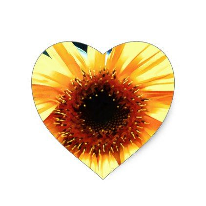 Sunflower Heart Stickers - rose style gifts diy customize special roses flowers