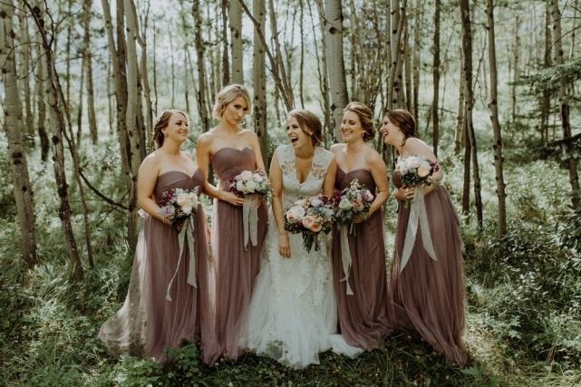wedding planner, kismet and clover, canmore and banff wedding planner, rustic wedding, vintage wedding, wedding decor, rundleview park, wedding party, bridesmaids, wedding fashion, grey lavender