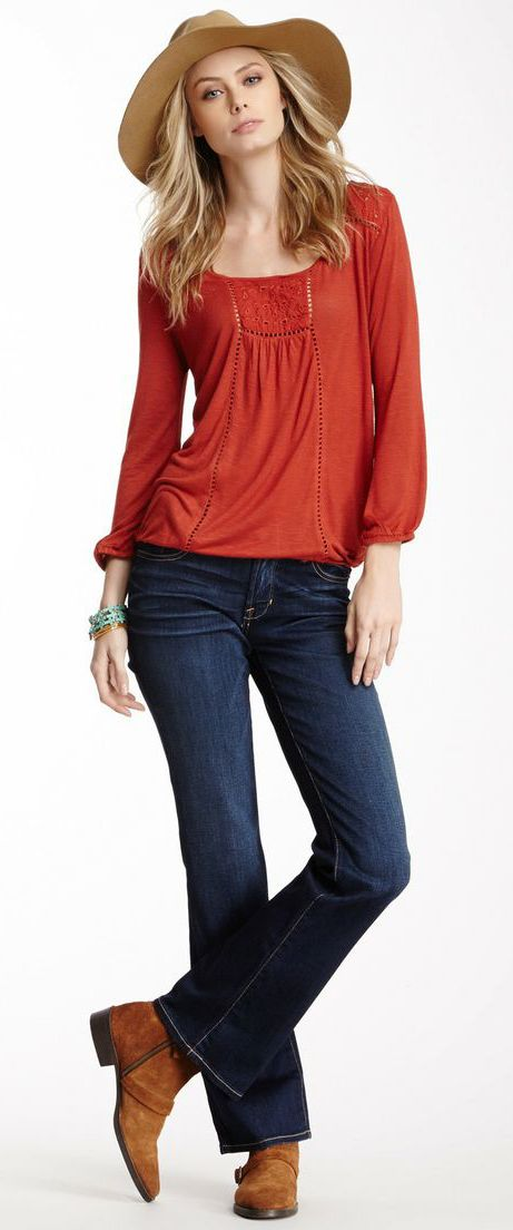 I am not a cowgirl, but I like! Lucky Brand The Sweet Bootcut Jean
