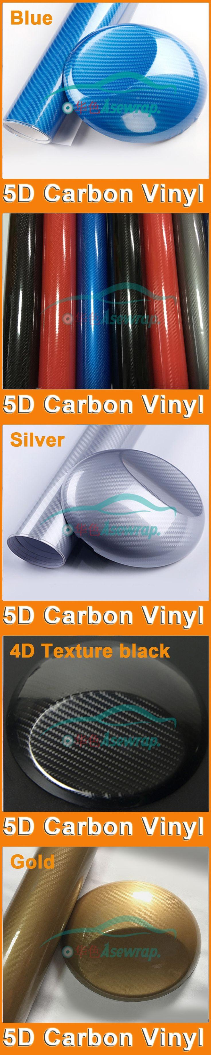 Free shipping retail Super quality 5D Carbon Fiber Vinyl car sticker car Wrap 5D Carbon Fiber Film For Vehicle Motorcycle