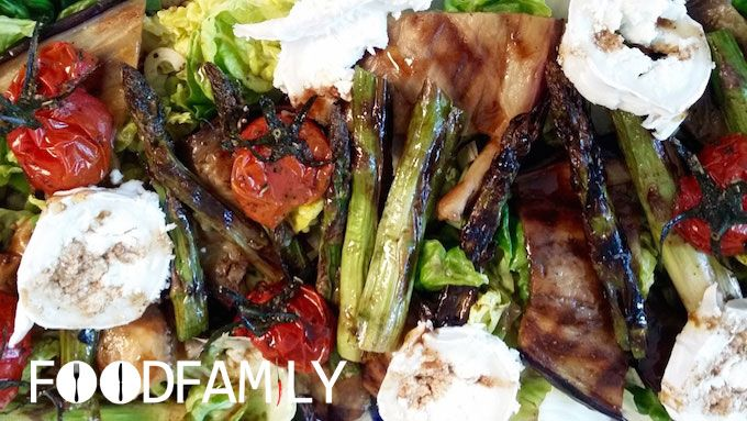 grilled veggie salad with goat cheese - www.FoodFamily.net