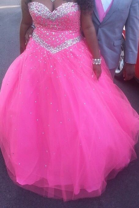 hot pink and silver poofy prom dress ��dresses ��