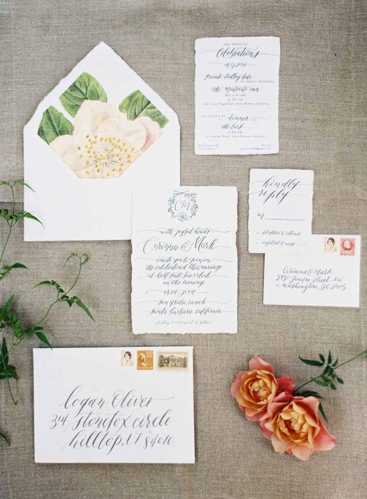summer fete wedding invitations%0A Rustically Elegant California Wedding