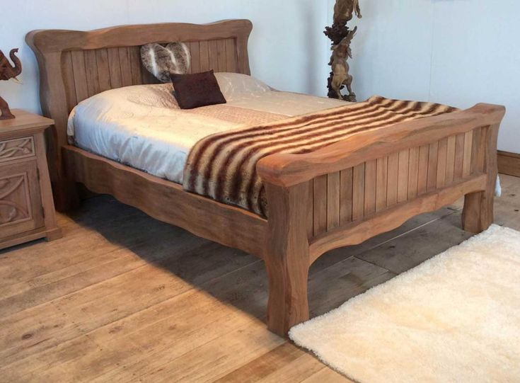 1000 ideas about solid wood beds on pinterest solid Rustic bed frames