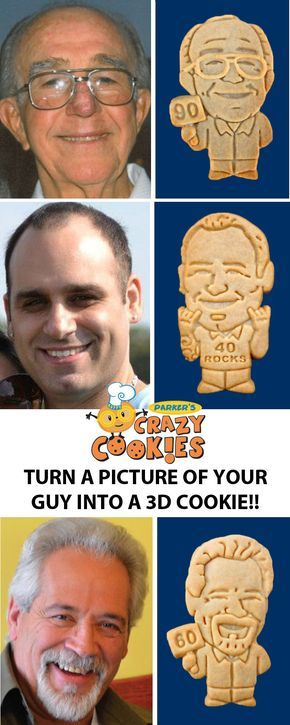 Design a custom cookie of your favorite man and create a memory he will never forget! Discover the magic at www.parkerscrazycookies.com. As seen on the Today Show and the Food Network.