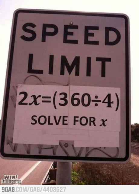 Speed limit for nerds... Yeah, I definitely solved it just now for fun.
