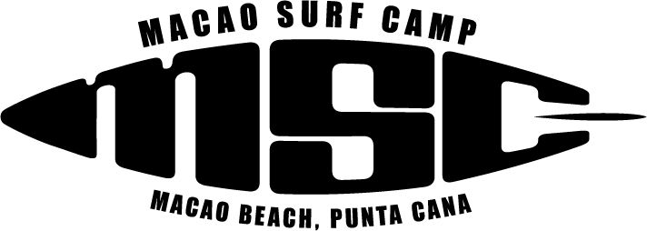 Logo Macao Surf Camp, for the most famous surf academy at Macao Beach in Punta Cana, Dom. Rep.