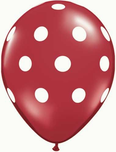 Grappige ballonnen met stippen voor elk soort feestje. Er zitten 5 ballonnen in de verpakking.