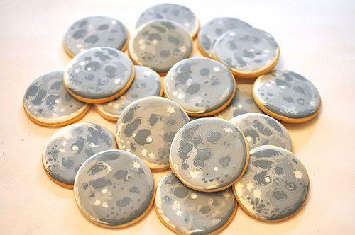 Moon Cookies by Kelley Hart Custom Cookies