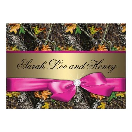 362 best camo wedding invitations images on pinterest invites hot pink formal camo wedding invitation stopboris Images