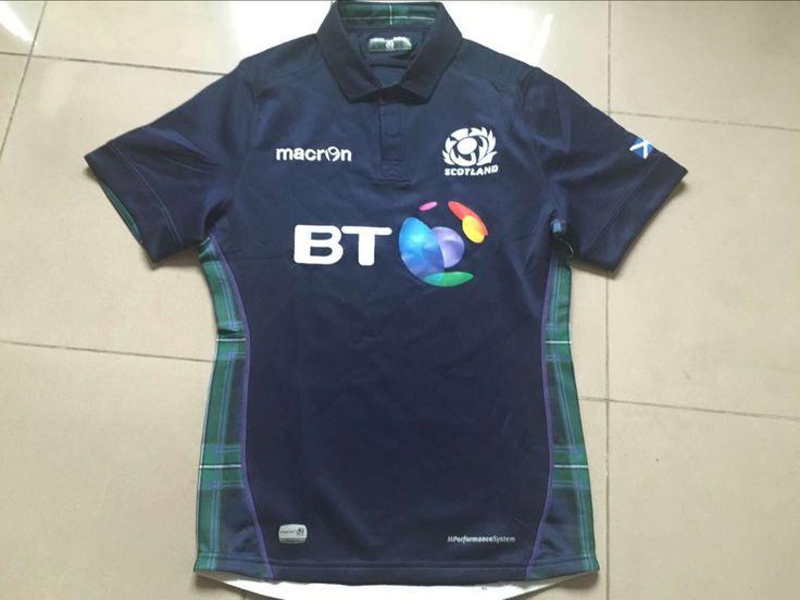 2015 2016 season scotland home rugby jersey euro maillot Sleeve Rugby ball match jerseys sports short Shirt Men