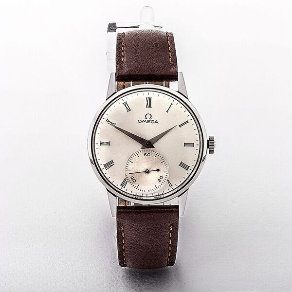 Omega 1949 Gents Stainless Steel Watch with Silver Dial