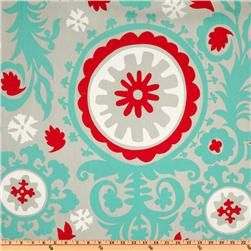 A lovely print that would really pop if paired with a red lining fabric. For a more subtle look, go with a turquoise or plain white lining.