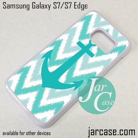 Blue Anchor Chevron Phone Case for Samsung Galaxy S7 & S7 Edge