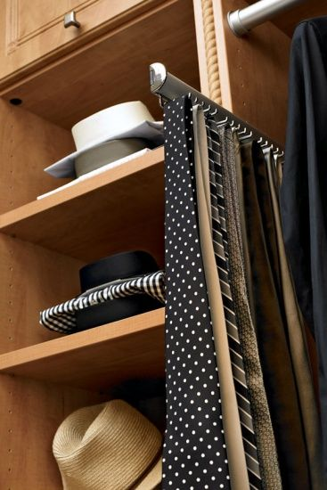 Brushed Chrome Tie Rack - Inspiration California Closets DFW