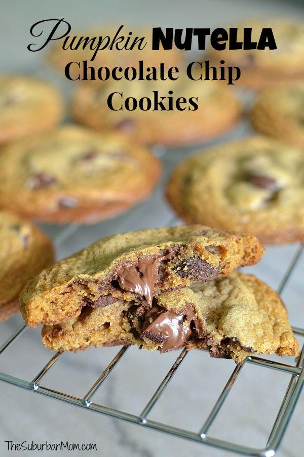 Nutella Chocolate Chip Cookies | Recipe | Nutella Chocolate, Nutella ...