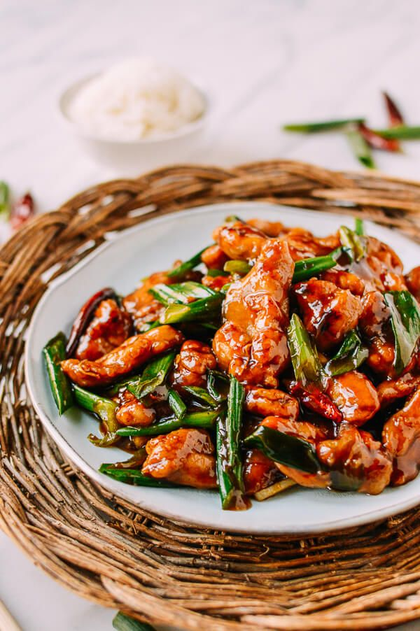 Mongolian chicken. An Americanized Asian dish, but no less delicious for it––crispy chicken is tossed in a sweet and spicy sauce easy to make at home!