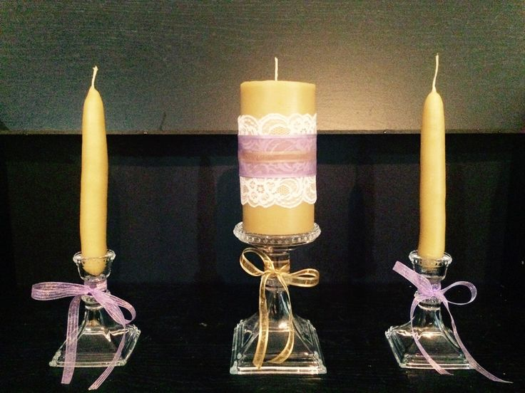 Items Similar To Beeswax Unity Candle On Etsy