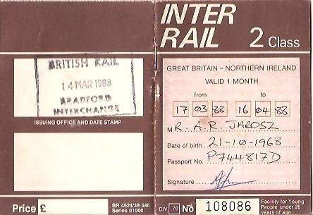 Aloitin reissu-urani interreilaamalla. Olenkin käynyt lähes kaikissa Euroopan maissa. Kierroksen voisi aloittaa alusta, sillä interrail-ajoista on jo jonkin aikaa.