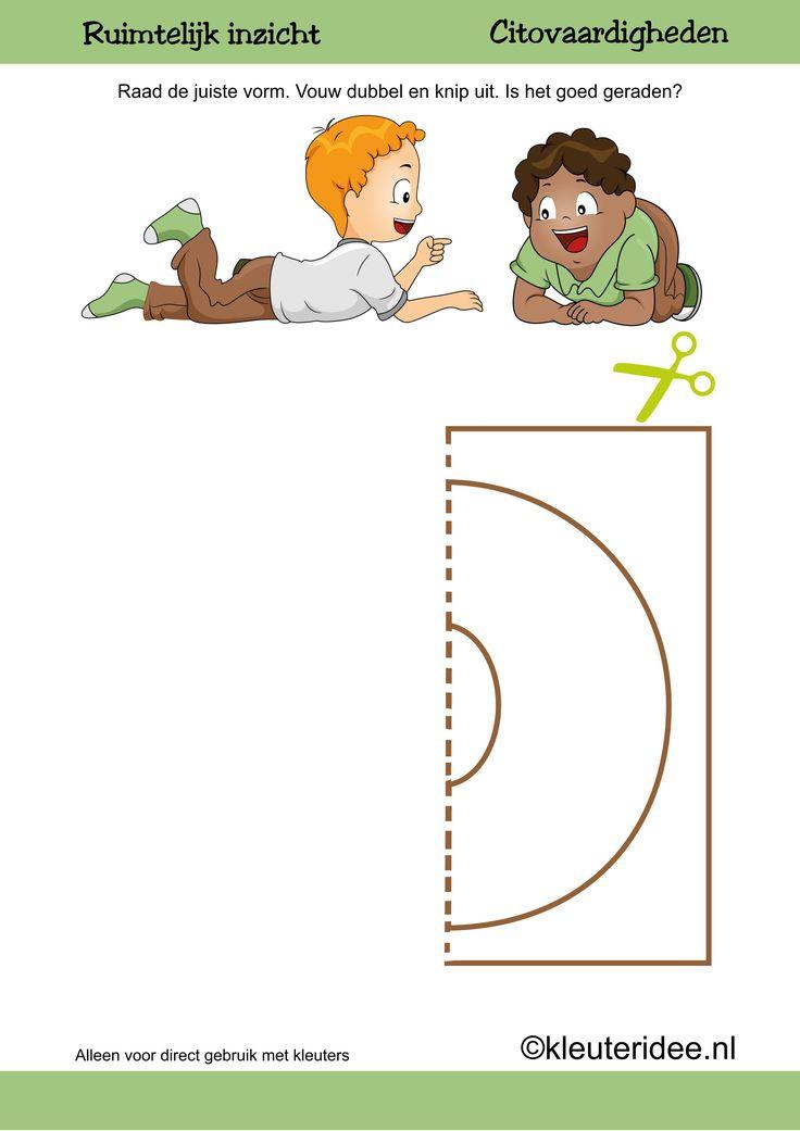 Citovaardigheden voor kleuters, kleuteridee.nl ,ruimtelijk inzicht cirkel 2 , rekenen voor kleuters, free printable