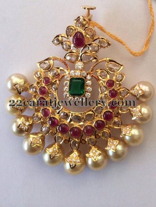 1 Lakh Worth Pachi Work Pendants