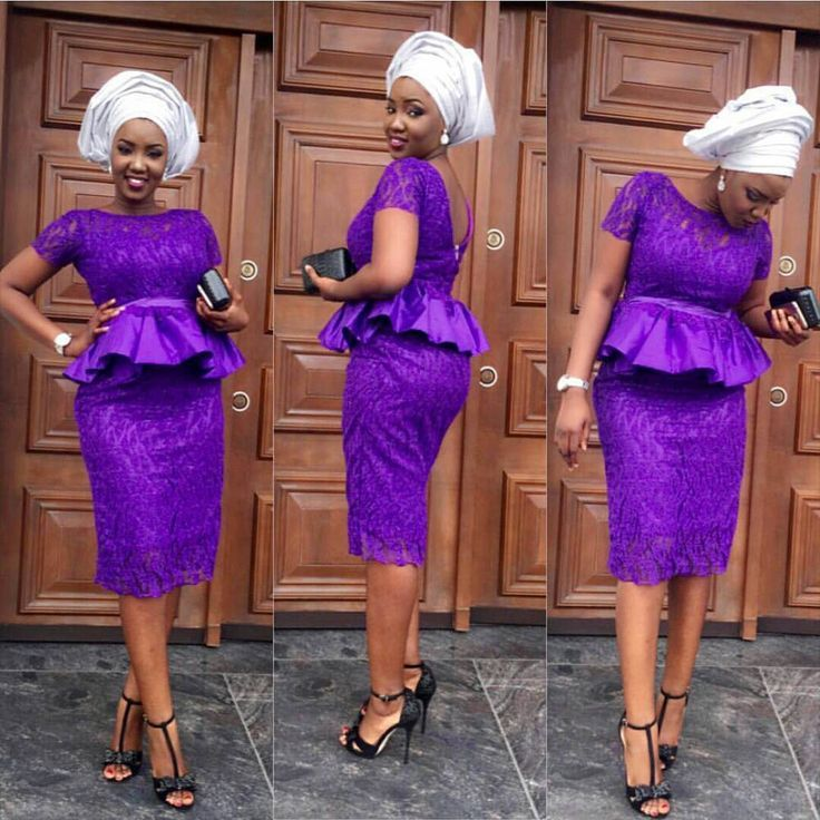 Lovely Latest Lace Aso Ebi Styles for your Owambe