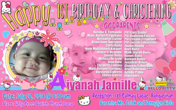 birthday and christening invitations hello kitty format
