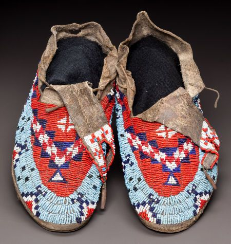 Sioux moccasins 1910