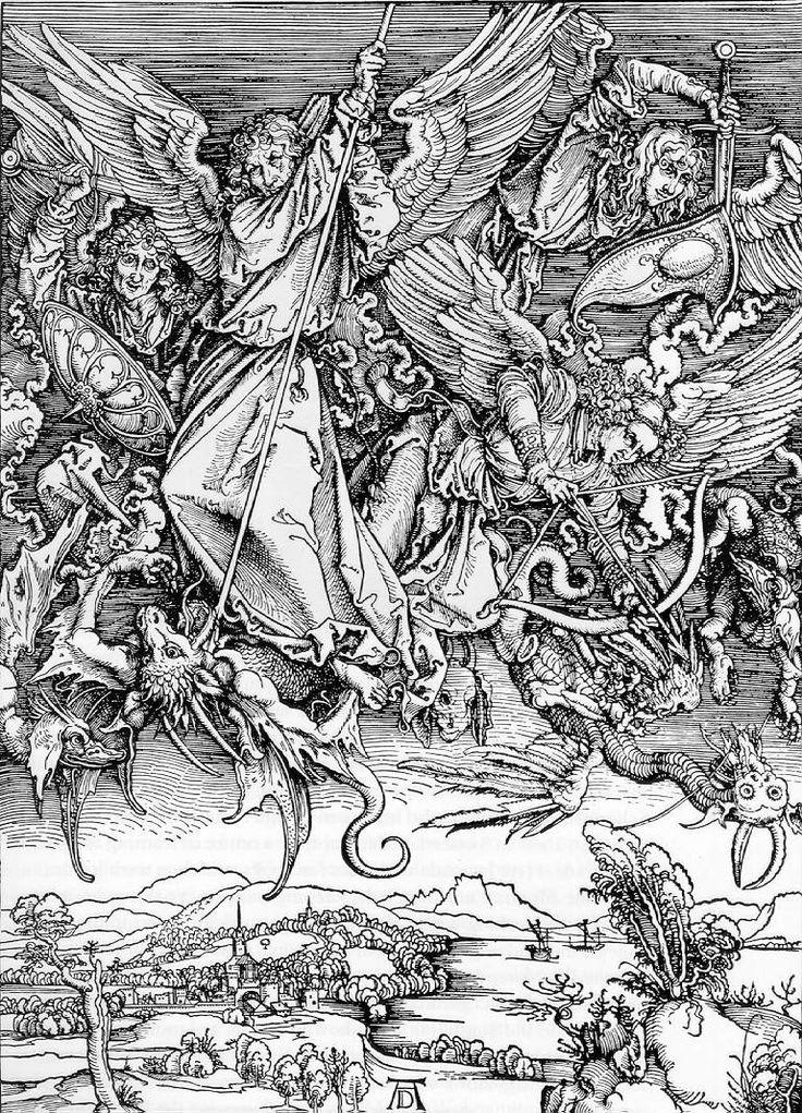 Albrecht Dürer - St. Michael's fight against the dragon