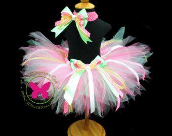 Girls Pastel Birthday Ribbon Tutu...Bubblegum от TutuGorgeousGirl
