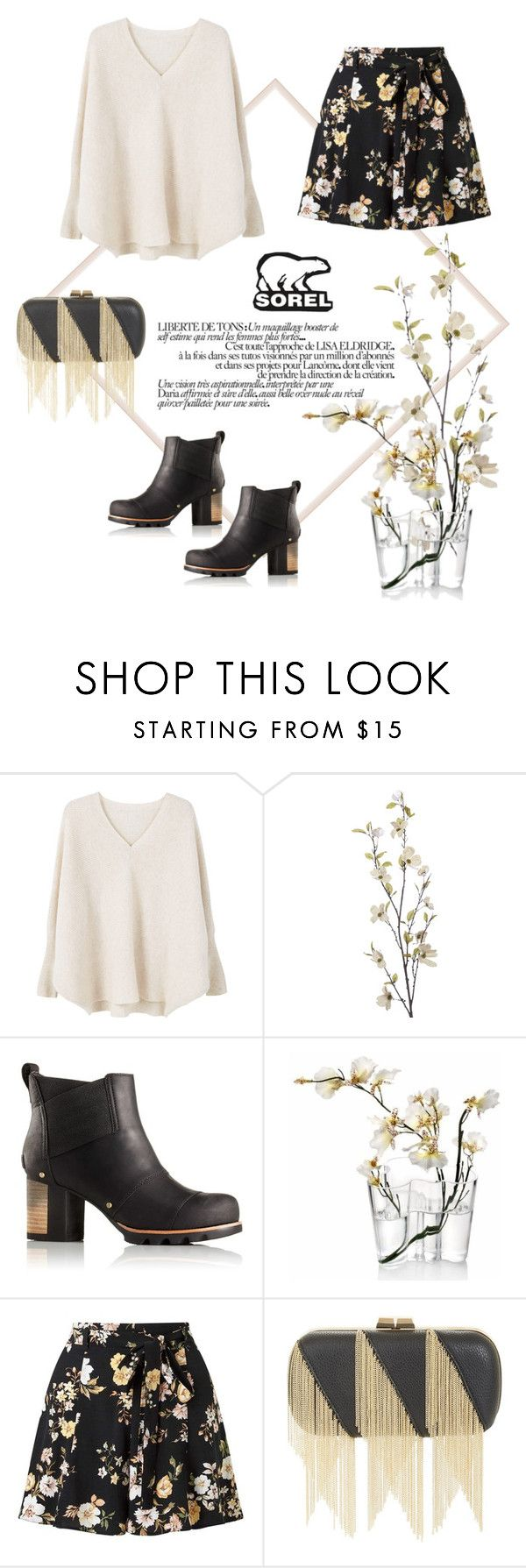 """""""Kick Up the Leaves With SOREL"""" by findself ❤ liked on Polyvore featuring MANGO, Pier 1 Imports, SOREL, iittala, Miss Selfridge, BCBGMAXAZRIA and sorelstyle"""