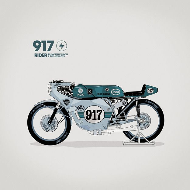 Motorcycle art by Gianmarco Magnani of Silence Television