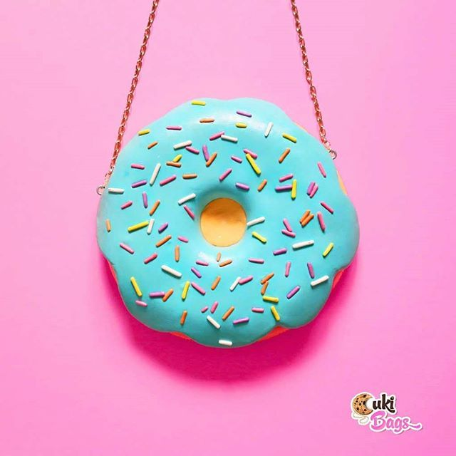 There's nothing like a teal glazed Donut Purse (custom order) and it has a matching necklace in the making.  Stay tuned