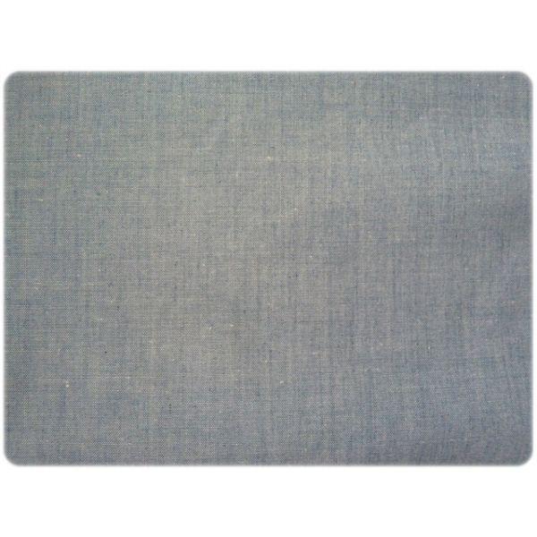 tissu chambray bleu