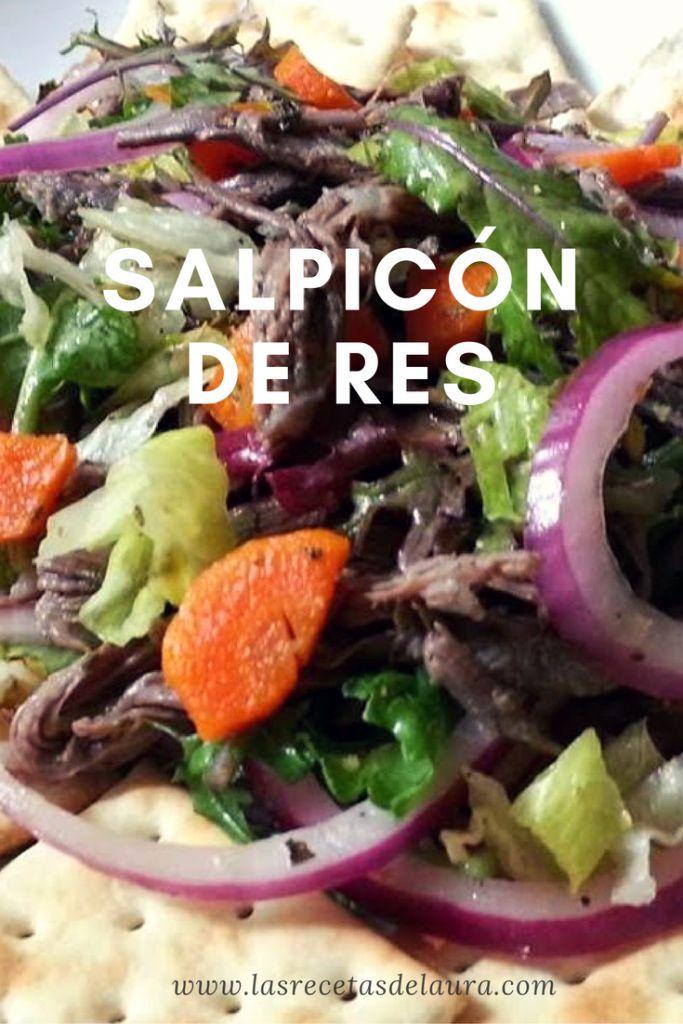 SALPICÓN DE RES SALUDABLE Receta Saludable Facil y rapida para toda la familia