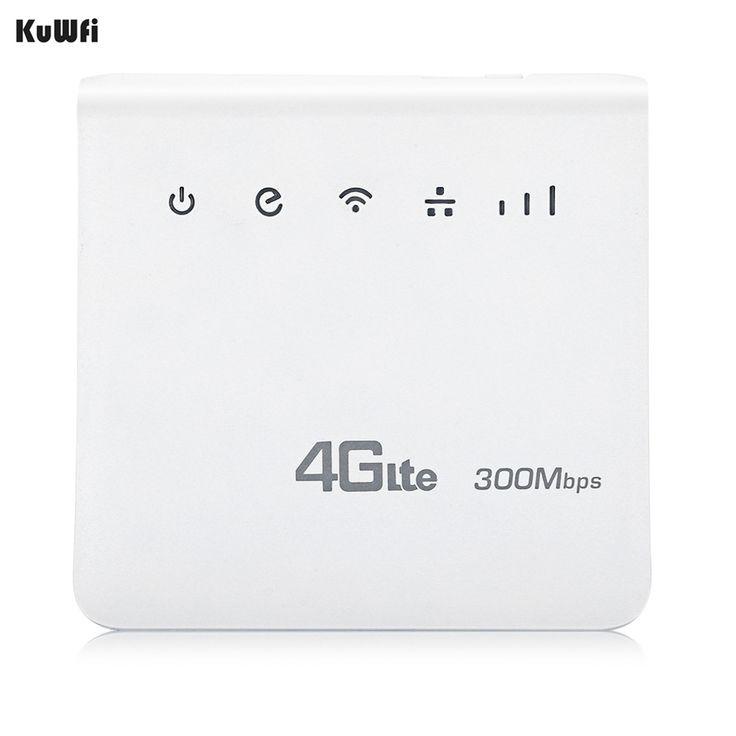 Kuwfi sbloccato 300 mbps 4g lte cpe wifi mobile router
