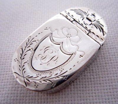 Solid Silver Georgian snuff box, circa, 1798.