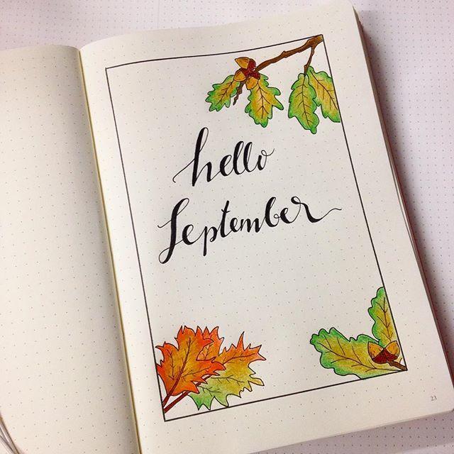 New Bullet Journal + new month set up = #newbulletjournal #bulletjournal #bulletjournalcommunity #bulletjournaljunkies #monthlysetup #helloseptember