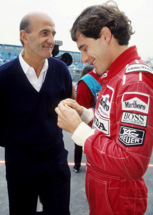 Brian Hart with Ayrton