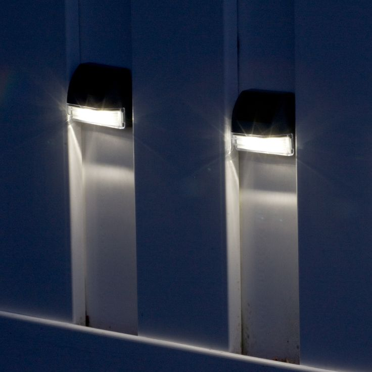 Solar Wall Lights   4 Pack: Discreet Functional Lighting Perfect For Walk  Ways, Paths