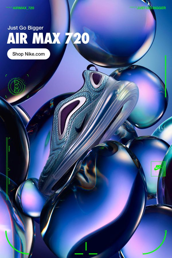 0c8ded0db3326 Air Max 720. Iridescent hues for cushioning that looks as good as it feels.  Go bigger on Nike.com.