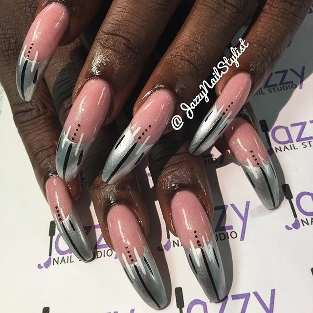 Natural Nails Tapered With Acrylic Overlay 1inch Long From Nail Tip Curved Nails Nails Green Nails